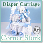 Baby Boy Blue Diaper Carriage