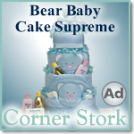 Bear Blue Baby Cake Supreme