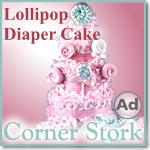 Baby Girl Pink Lollipop Diaper Cake