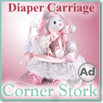 Baby Girl Pink Diaper Carriag