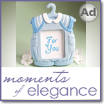 Cute baby themed Photo Frame Favors - Boy / Blue
